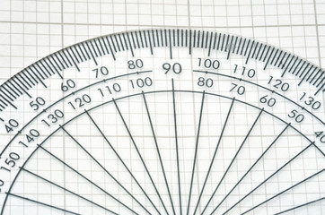 detail of protractor