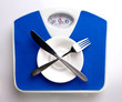 empty plate for dieting concept