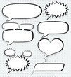 Cosmic speech bubbles, paper design