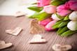 Herzchen und Tulpen