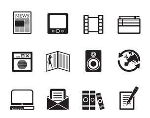 Silhouette Media and information icons - Vector Icon Set