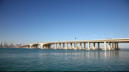 New Sheikh Khalifa Bridge in Abu Dhabi, United Arab Emirates
