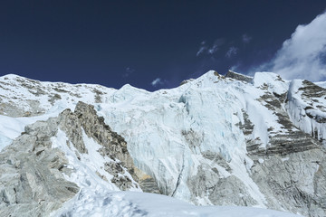 island peak beside of everest basecamp from everest trek nepal