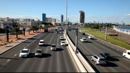 City Highway in Abu Dhabi, United Arab Emirates