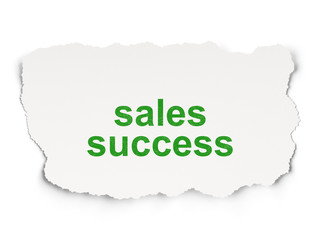 Marketing concept: Sales Success on Paper background