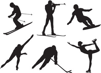 Winter sports. Vector