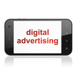 Marketing concept: Digital Advertising on smartphone