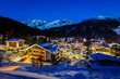 Illuminated Ski Resort of Madonna di Campiglio in the Morning, I
