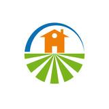 Vector logo farm and housing