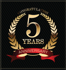 Anniversary laurel wreath, 5 years