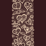 Abstract pattern with lacy valentines seamless pattern