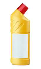 Yellow plastic bottle of WC cleaner
