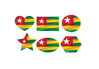 Togo flag themes idea design