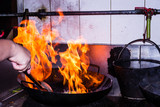 Stir fire cooking - 60618582