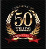 Anniversary golden label, 50 years