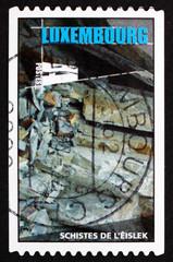 Postage stamp Luxembourg 2005 Schist, Metamorphic Rock