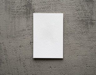 paper card on a gray background