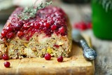 Rice terrine with cranberry