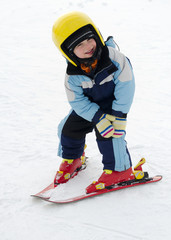 Skiing child