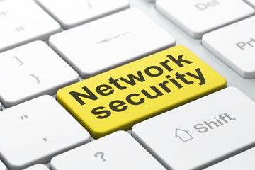 Safety concept: Network Security on computer keyboard background