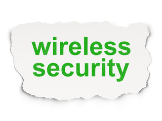 Protection concept: Wireless Security on Paper background