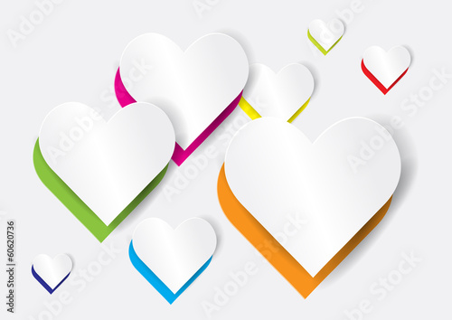 Abstract heart shape - vector illustration
