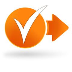valider sur symbole web orange