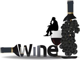 meditazione su un bicchiere di vino