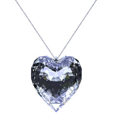 pendant glossy heart shaped