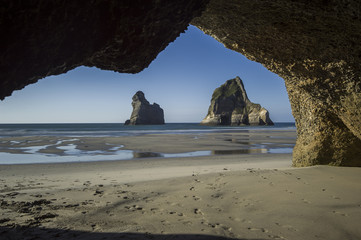 Archway Islands at Whararaki Beach near Nelson, New Zealand