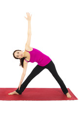 Extended Triangle Pose in Yoga