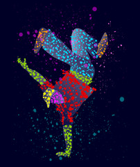 Abstract male dancer