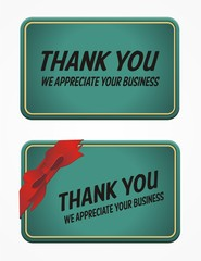 business card - thank you for your business
