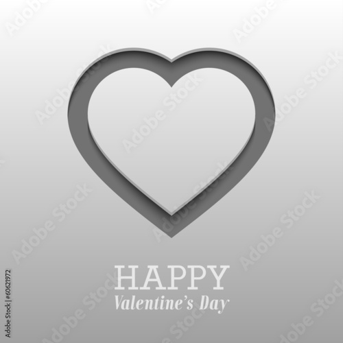 Valentines day card with heart. Vector illustration.
