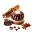 Handmade soap with coffee and chocolate