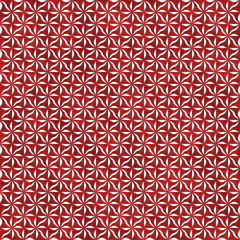 Red and White Decorative Swirl Design Textured Fabric Background