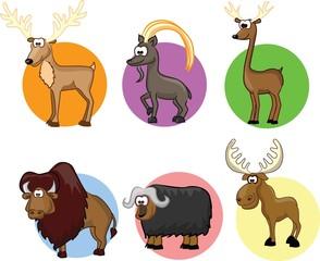 Симпатичные животные мультфильм