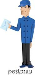 Мультипликационный персонаж-почтальон