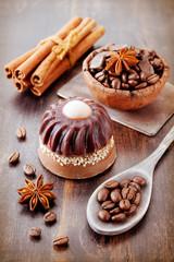 Coffee handmade soap with coffee beans