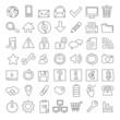 49 iconos web dibujados a mano