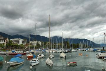 marina on Lake Geneva