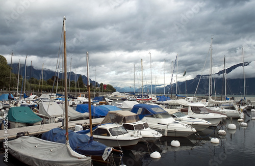 marina on Lake Geneva