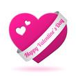 vector pink valentine heart