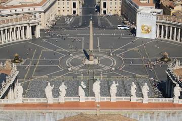Vaticano , piazza San Pietro ,  Roma panorama