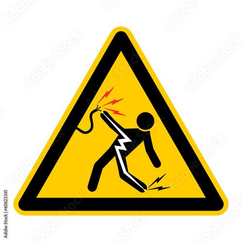"""""""symbol for electric shock german stromschlag g453 ..."""