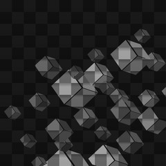 Background abstract cube