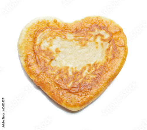 Heart pastry isolated