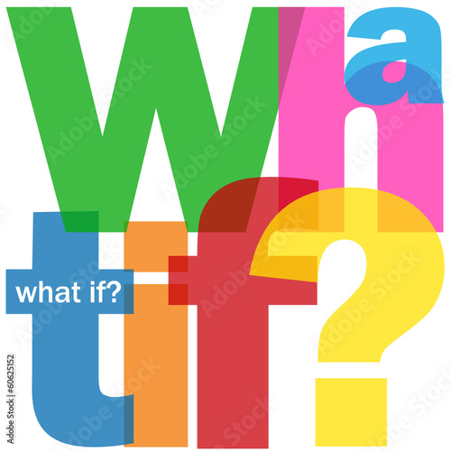 """WHAT IF?"" Letter Collage (questions information help how about)"