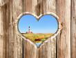 Urlaub Leuchtturm Herz