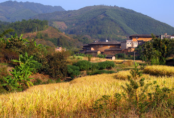 picturesque rural landscape  in eastern China, Fujian province